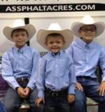 Our three oldest grandsons ready to show!