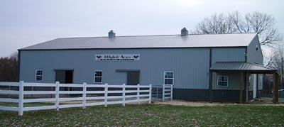 New donkey barn